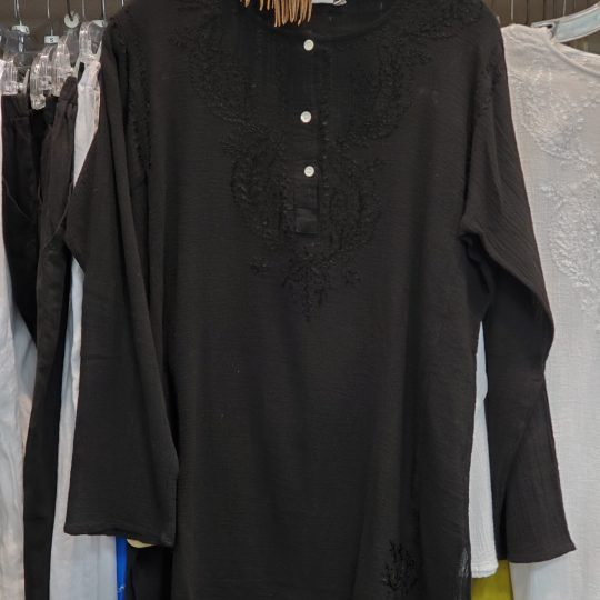 CREPE KURTA COTTON EMBROIDERED SHIRT